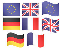 European Flags 1 Stock Photography