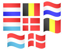 European Flags 3 Royalty Free Stock Photography