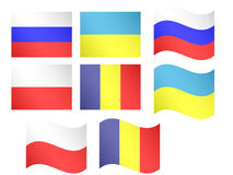 European Flags 6 Royalty Free Stock Photography