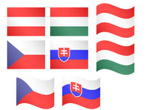European Flags 5 Stock Images