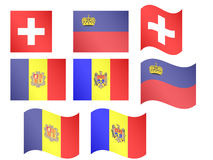European Flags 9 Royalty Free Stock Images