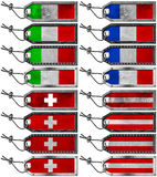 European Flags Set of Grunge Metal Tags Stock Photography
