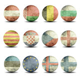 european flags set - part 1 Stock Images