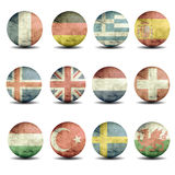European flags set - part 2 Royalty Free Stock Images