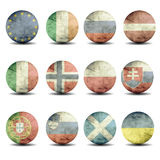 European flags set - part 3 Royalty Free Stock Photography