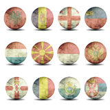 European flags set - part 4 Royalty Free Stock Photography