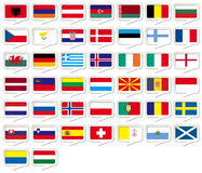 European flags set Royalty Free Stock Photo