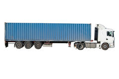 European flatbed 18-wheeler Royalty Free Stock Photo
