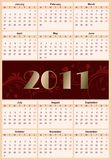 European floral calendar 2011 Royalty Free Stock Photo