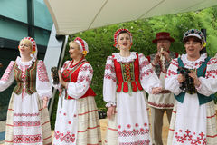 European folk song performers Stock Images