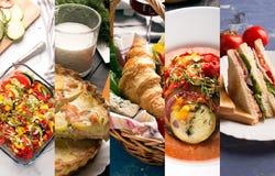 European food photo collage Stock Photos