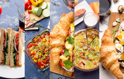 European food photo collage Royalty Free Stock Photography