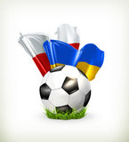 European Football Championship 2012. Icon Royalty Free Stock Photos