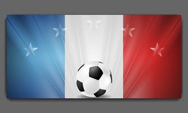 European Football Championship in France background Royalty Free Stock Image