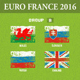European football championship 2016 in France groups B. Vector illustration Stock Image