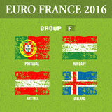 European football championship 2016 in France groups F. Vector illustration Stock Image