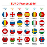 European football championship 2016 in France groups vector. European football championship. Soccer tournament. European football championship 2016 in France Stock Photos