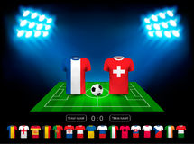 European football championship 2016 in France. Vector Royalty Free Stock Photo