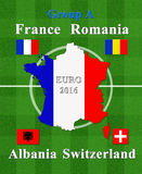 European football championship 2016 group A Stock Images