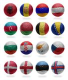 European Football . Collage from A to F Royalty Free Stock Images