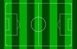 European Football Field Clean Design Royalty Free Stock Image