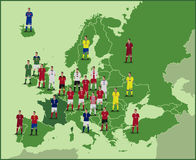 European Football Map Stock Image