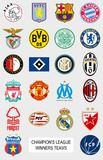 European football teams logos Stock Photography