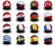 European Footballs 2008 Royalty Free Stock Photo
