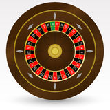 European (French) Casino Roulette Wheel Vector Illustration. On White Royalty Free Stock Images