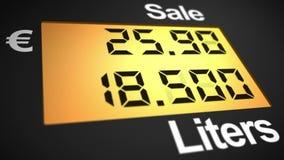 European fuel station dispenser stock video footage