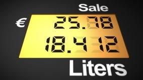 European fuel station pump stock video footage