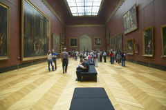 European Gallery in the Louvre Museum, Paris, France Royalty Free Stock Photo