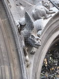 European Gargoyle. Stone carved gargoyle from somewhere in Germany showing the wear of time Stock Photography