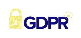 European GDPR concept flyer template illustration Royalty Free Stock Photos