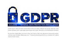 European GDPR concept flyer template illustration Royalty Free Stock Photography