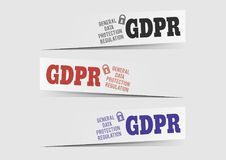 European GDPR infographics, european privacy policy law. Stock Image