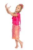 European girl dancing Thai dance Stock Image
