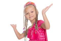 European girl dancing Thai dance Stock Images
