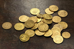 European gold coins Stock Images