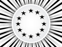 European grey flag Royalty Free Stock Photos