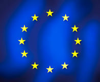European grunge flag Royalty Free Stock Images