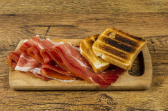 European ham called speck Royalty Free Stock Image