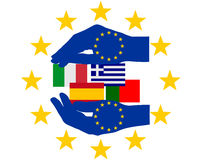 European Help. Detailed and colorful illustration of european Help Stock Photography