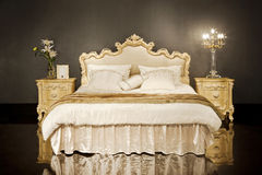 European home bed. Eastphoto, tukuchina, European home bed, Still Life Stock Images