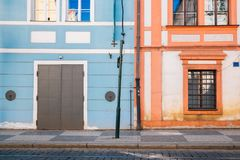 European house exterior. Detail background Royalty Free Stock Photography
