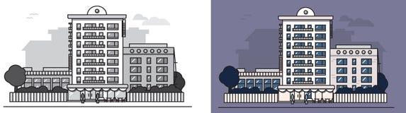 European_house royaltyfri illustrationer