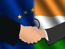 European Indian meeting Royalty Free Stock Photography