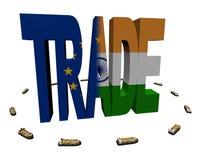 European Indian trade with ships Stock Photos