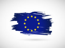 European ink flag illustration design Royalty Free Stock Photos