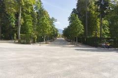 European, Jardines de la Granja de San Ildefonso, monuments in S Royalty Free Stock Photos